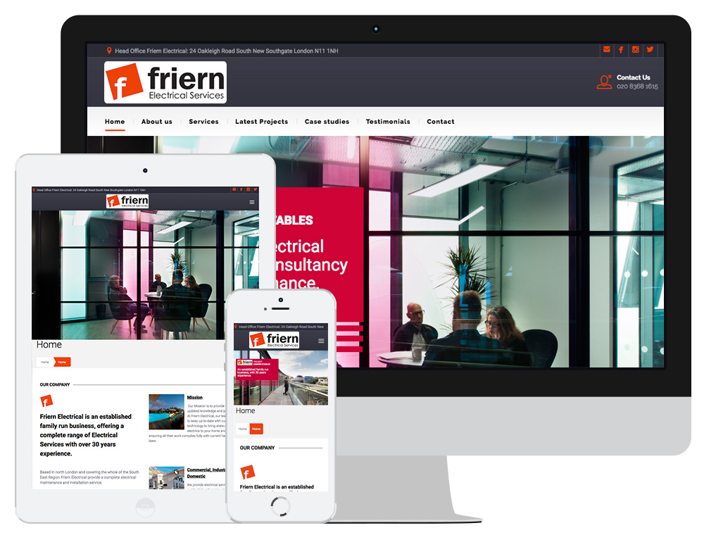 Friern Electrical Case Study Website Design Digital Marketing Click Return