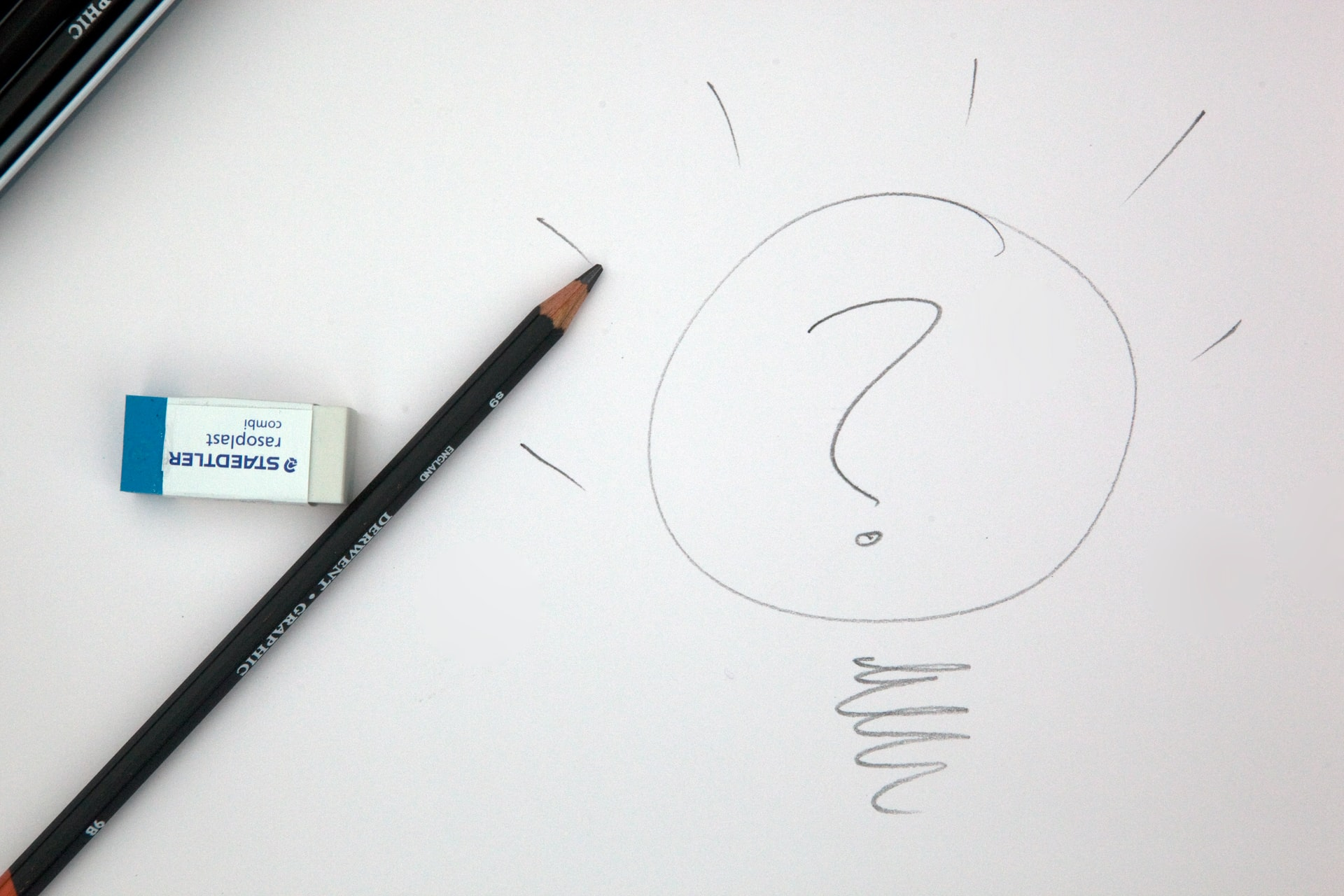 Content Strategy - pencil drawn question mark on paper