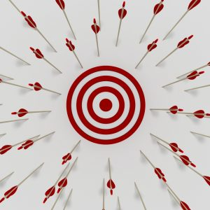 Search Engine Optimisation Mistakes - Tens of arrows that have missing the target symbolising Search Engine Optimisation